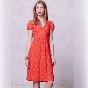 Anthropologie Leifnotes Dogflora Lace Dress